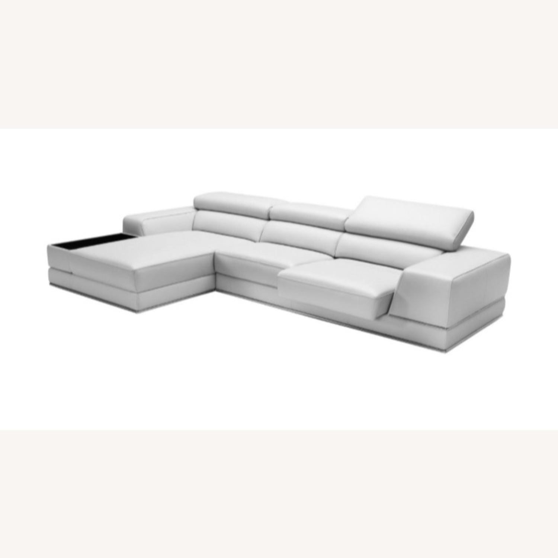 Modani Leather Sectional Sofa - image-4