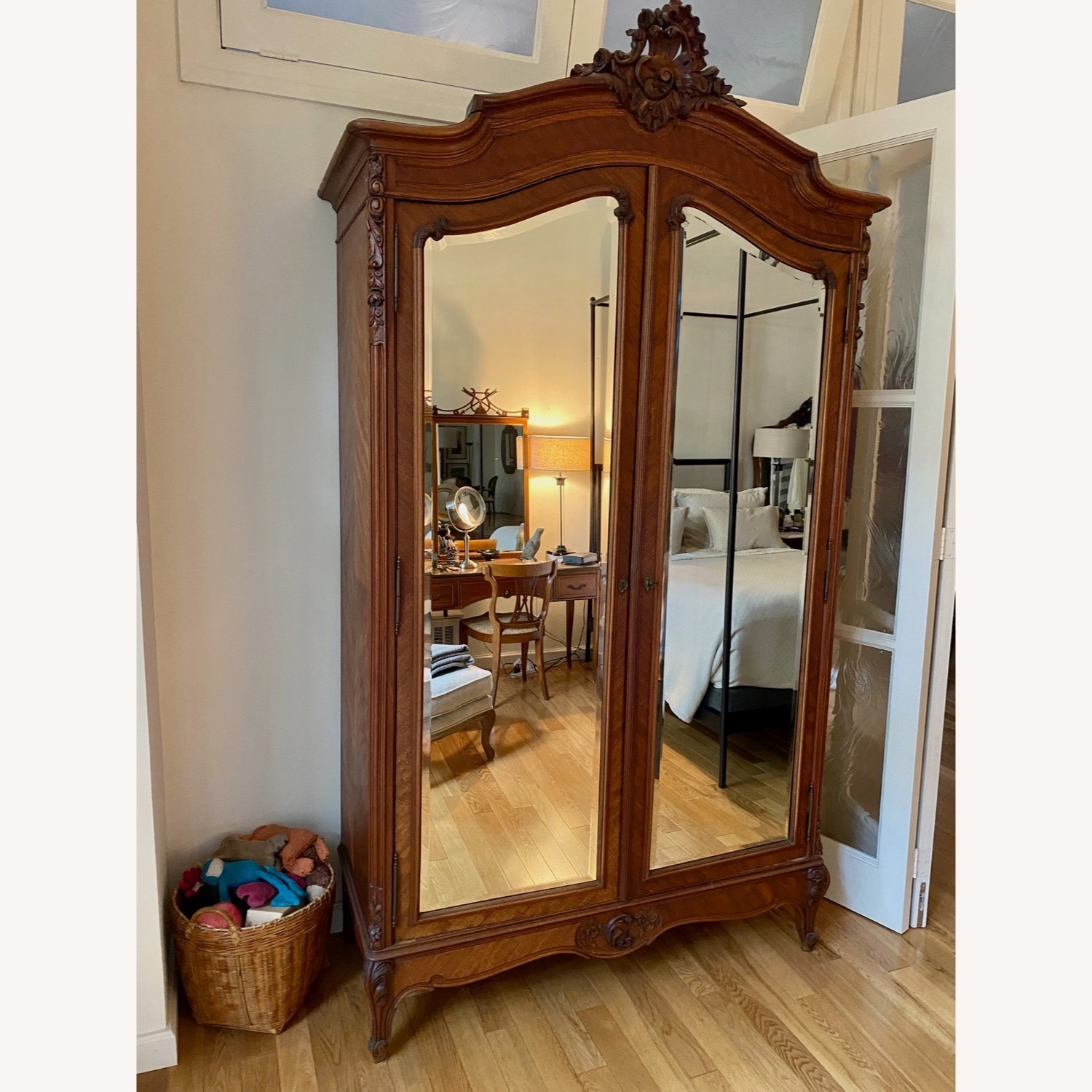 Antique Double Door French Armoire - image-9