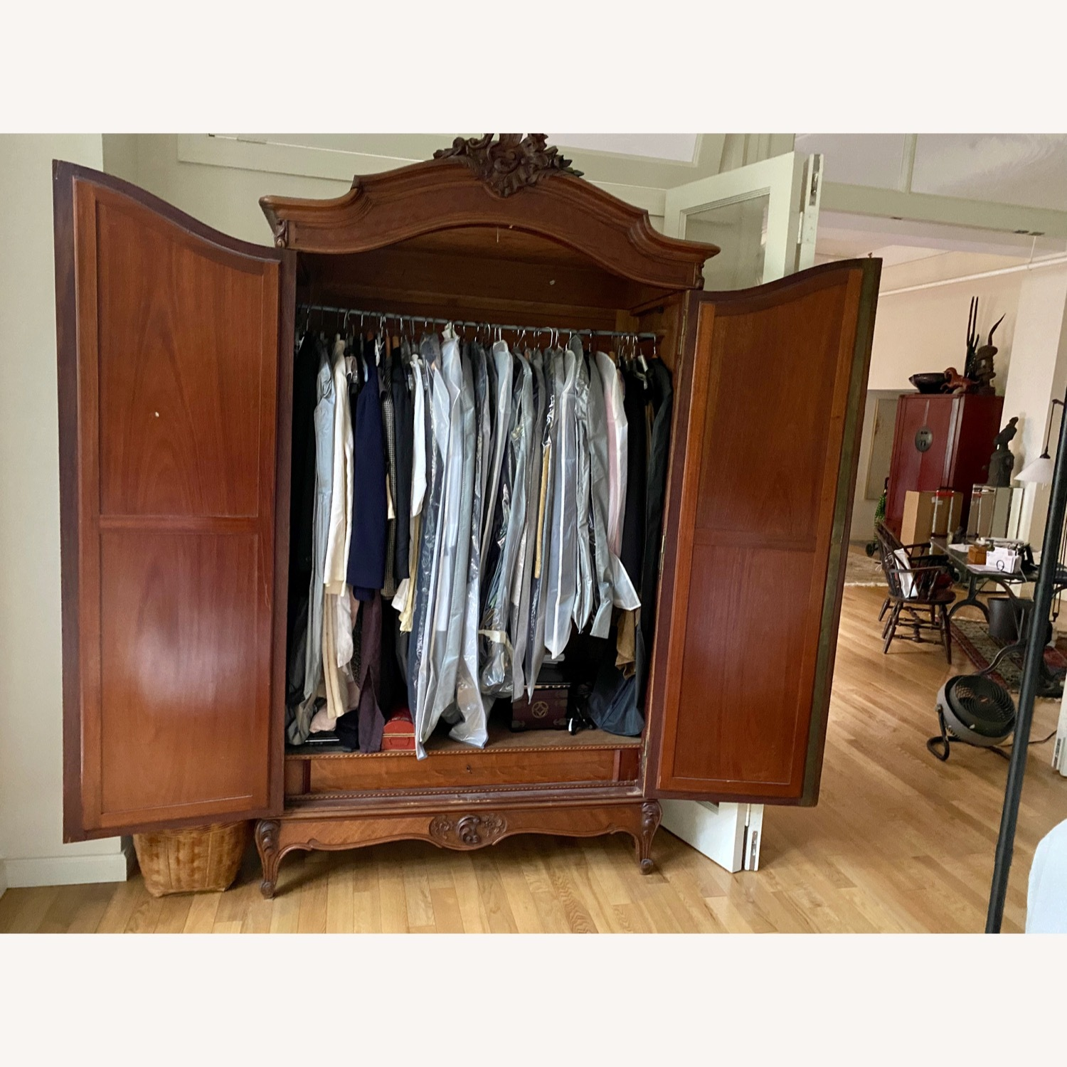 Antique Double Door French Armoire - image-8