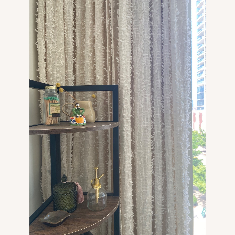 4 Urban Outfitters Beige Winne Eyelash Curtains - image-0