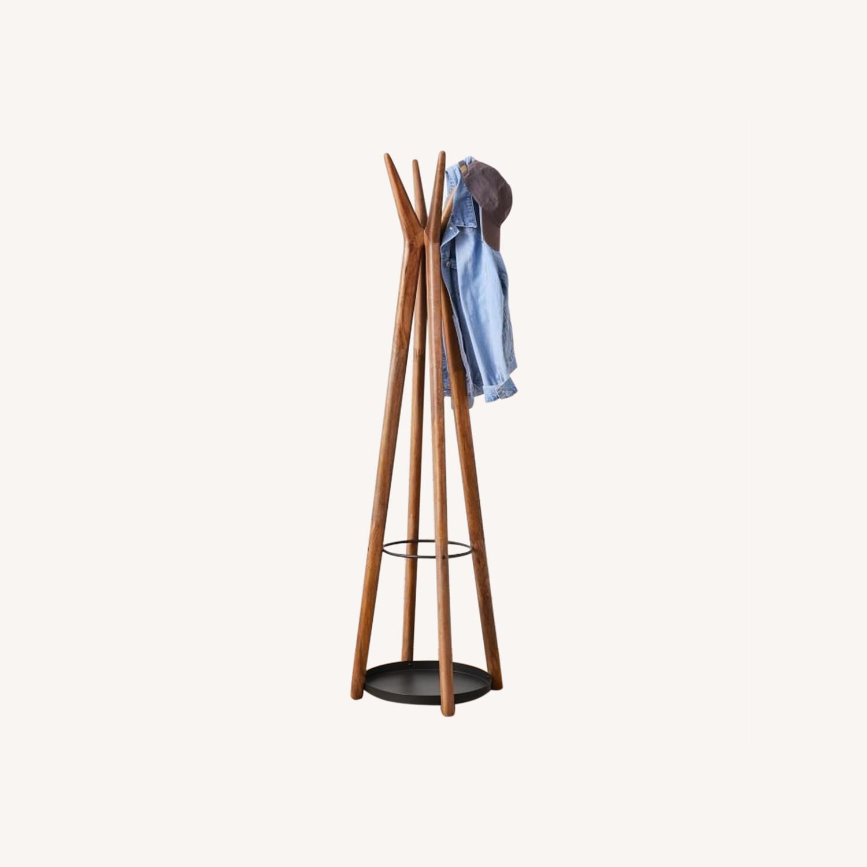 West Elm Anton Coat Rack, Burnt Wax - image-0
