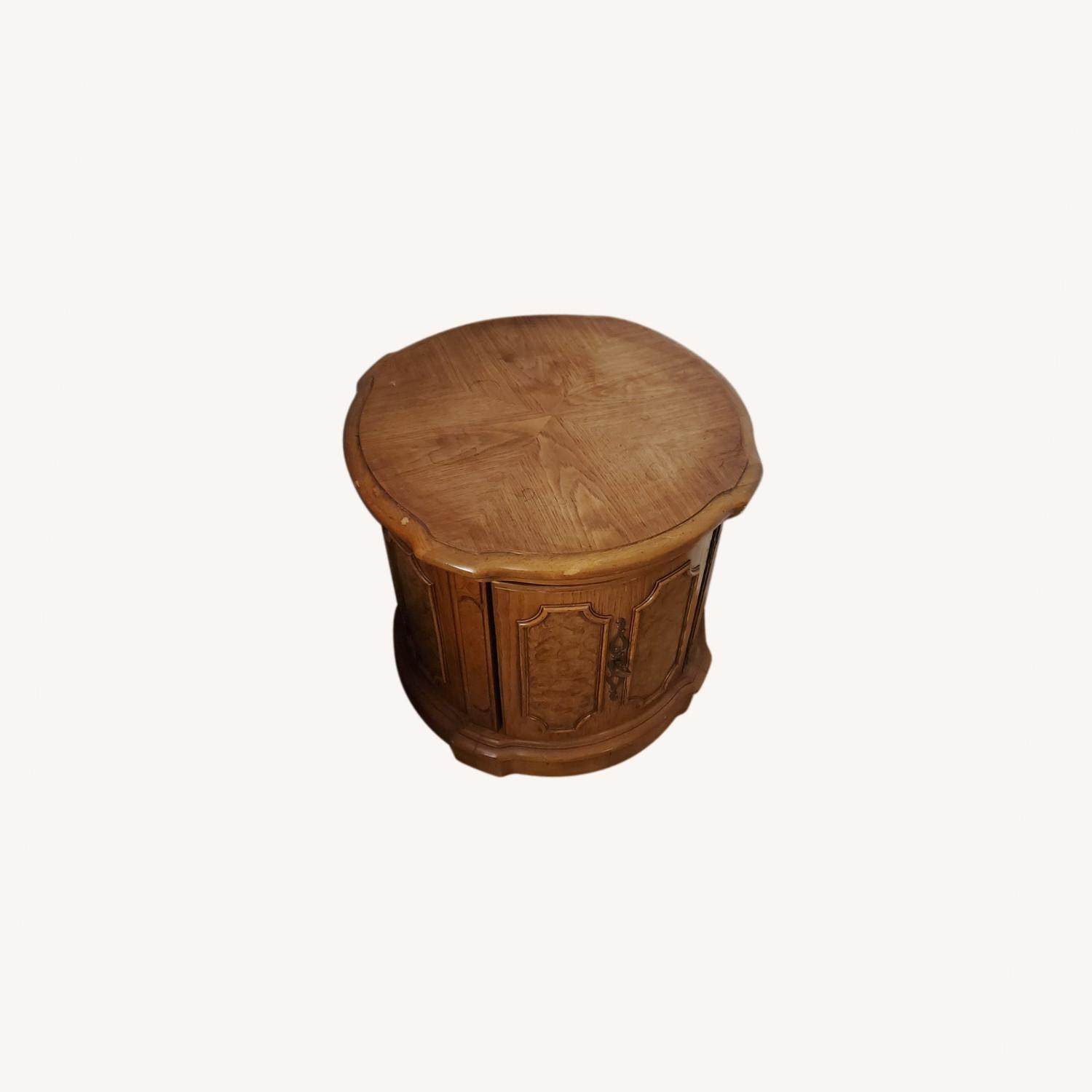 100% Wood End Table - image-0