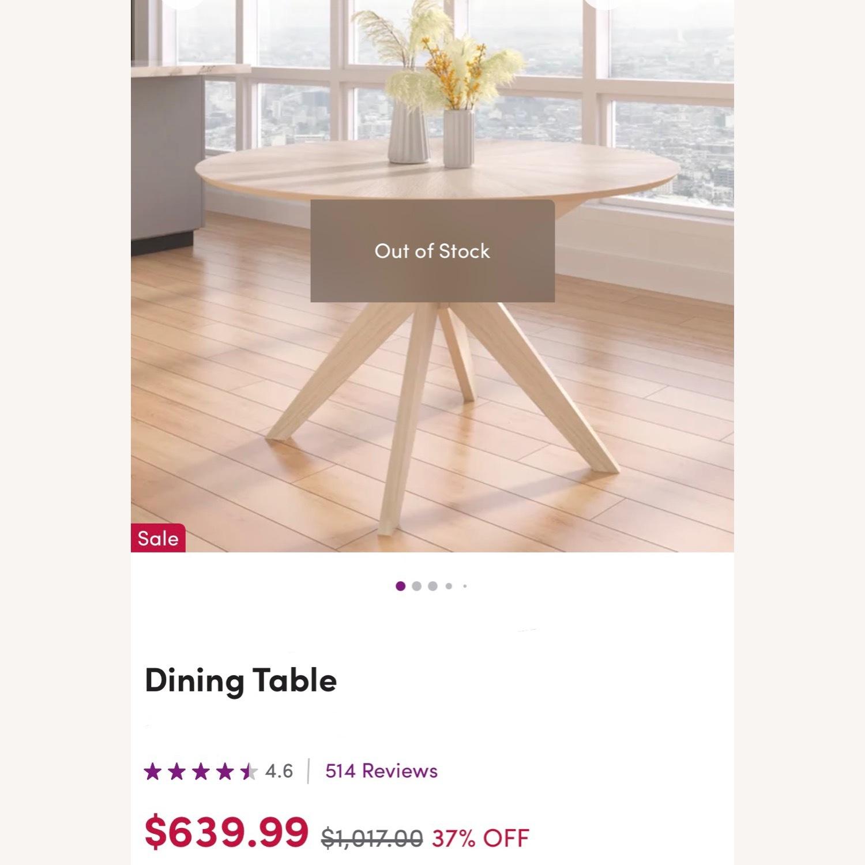 Wayfair White Wash Round 47.5 Modern Dining Table - image-3