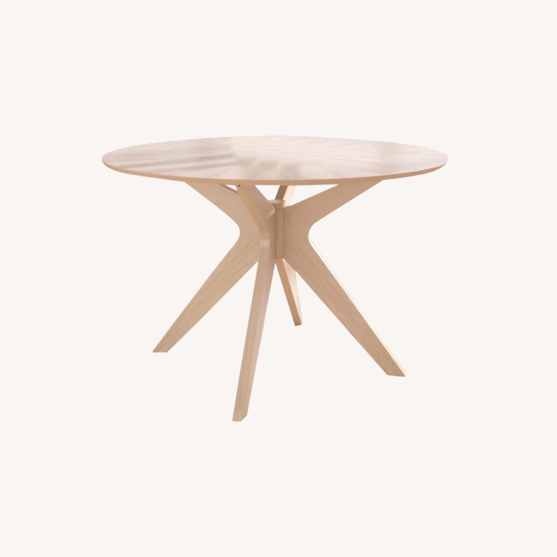 Wayfair White Wash Round 47.5 Modern Dining Table - image-0