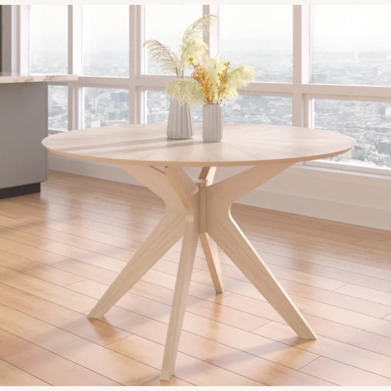 Wayfair White Wash Round 47.5 Modern Dining Table - image-1