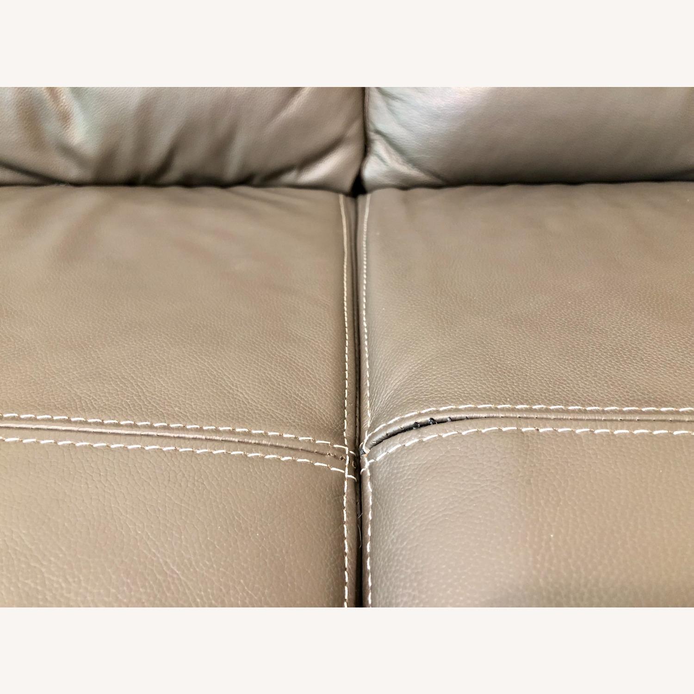 Ashley Furniture Sissoko Leather Gray Sofa - image-2