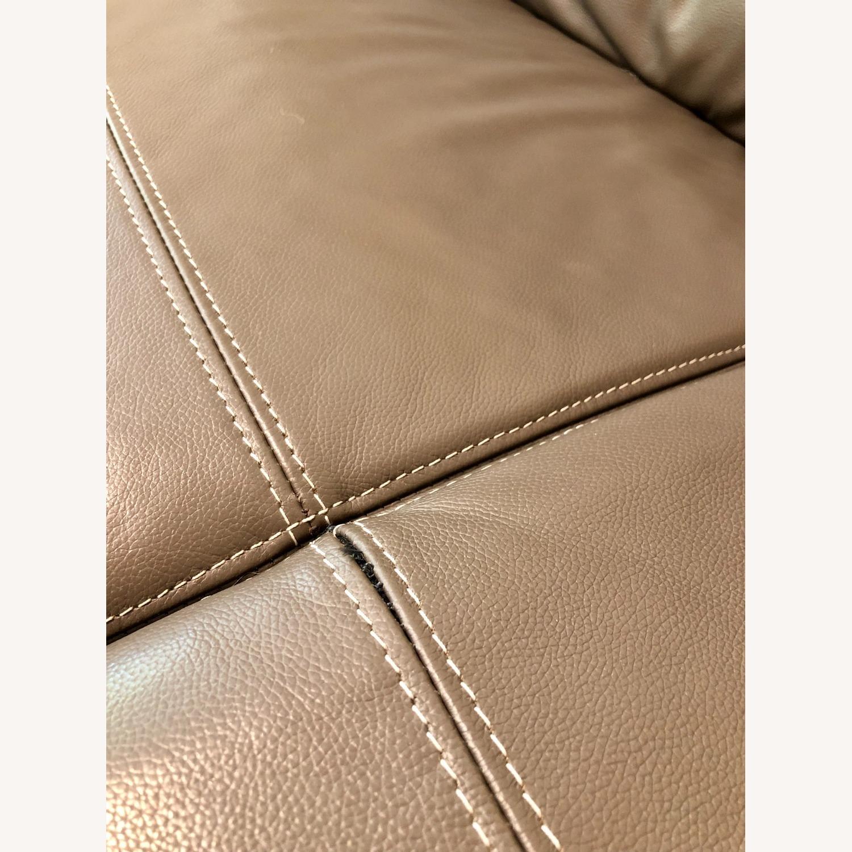 Ashley Furniture Sissoko Leather Gray Sofa - image-6
