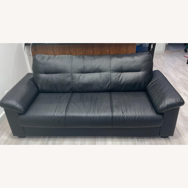 IKEA KNISLINGE Series Sofa Idhult Black - image-1