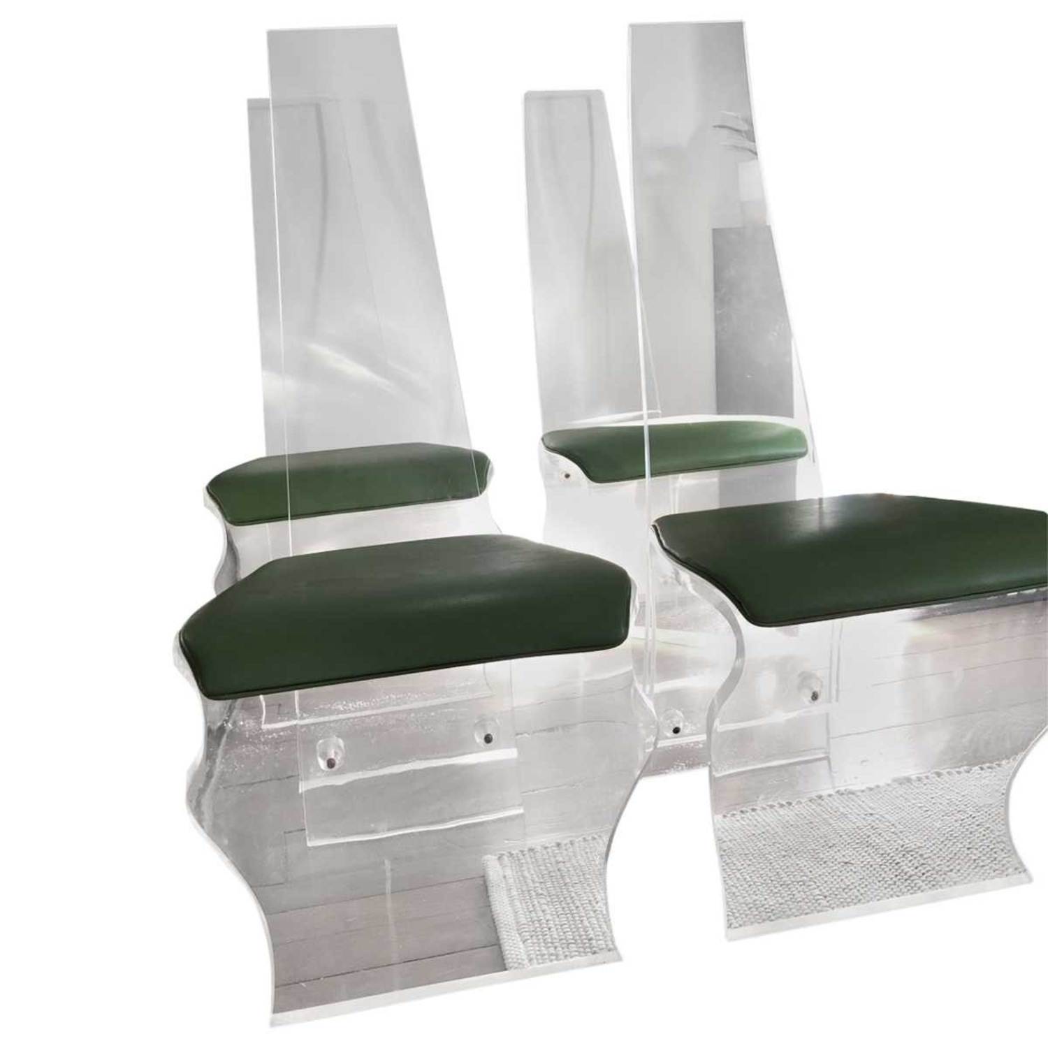 Tall Back Lucite Dining Chairs - image-2