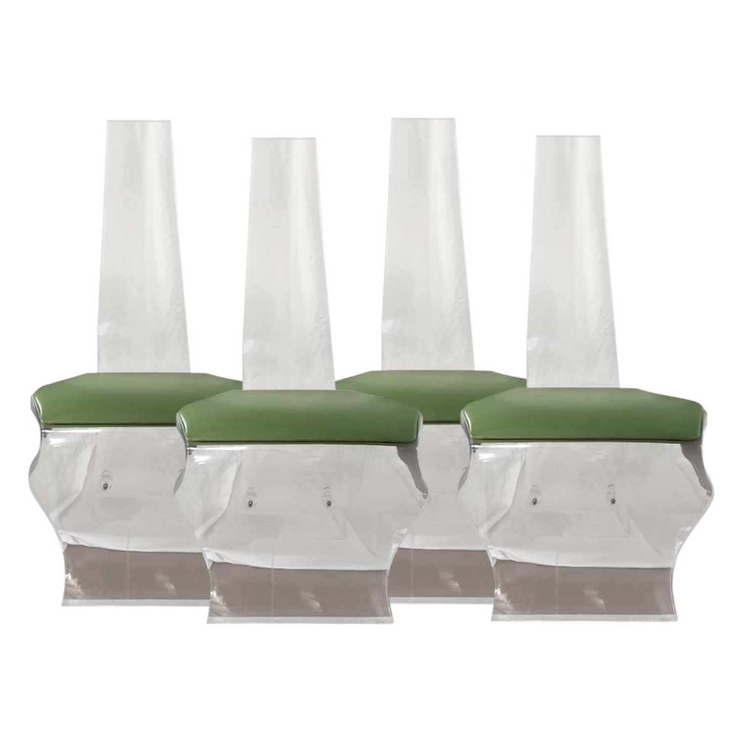 Tall Back Lucite Dining Chairs - image-1