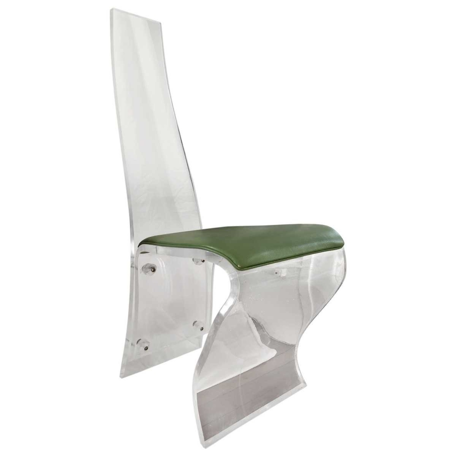 Tall Back Lucite Dining Chairs - image-3