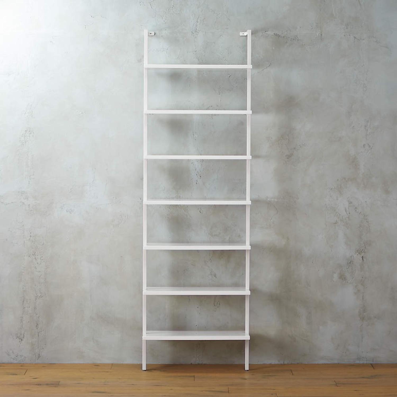 """CB2 White 96"""" Bookcase - image-1"""