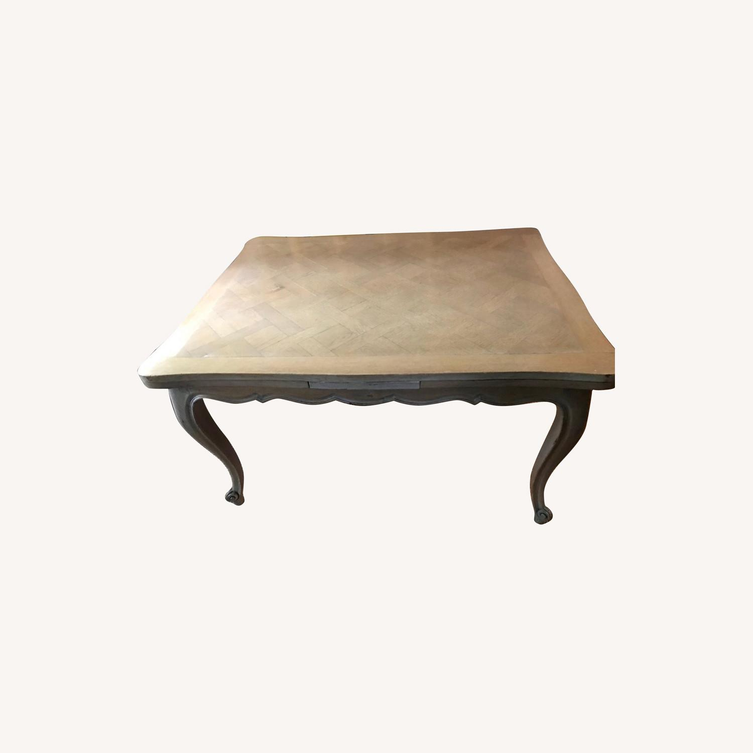 French Drawleaf Parquet Dining Table - image-0