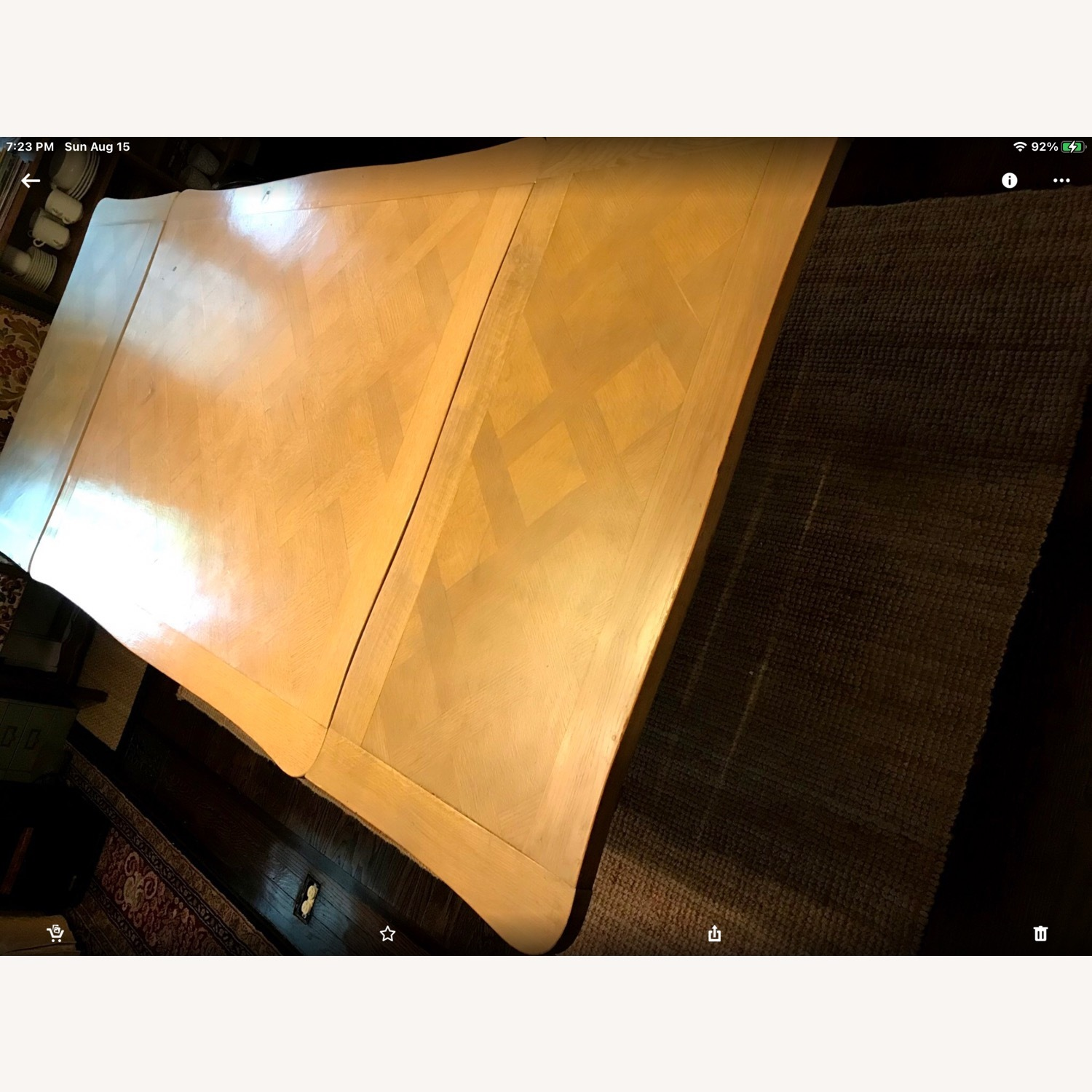 French Drawleaf Parquet Dining Table - image-6