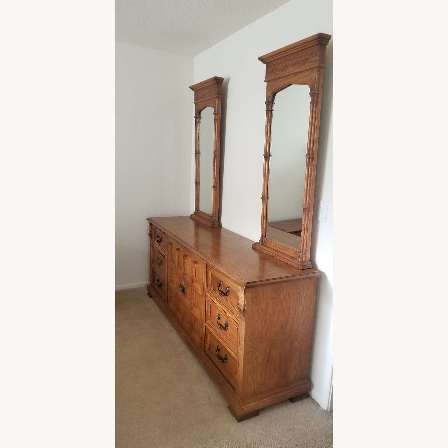 Vintage Drexel Dresser with two Large Mirrors - image-1