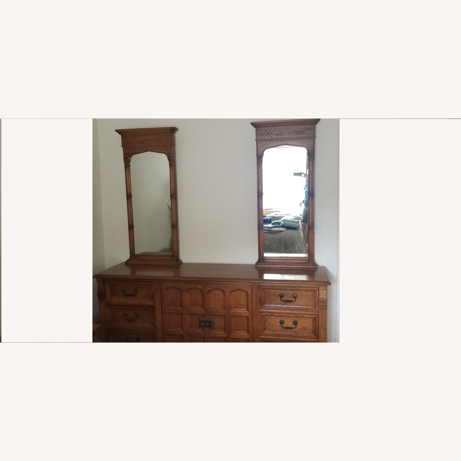 Vintage Drexel Dresser with two Large Mirrors - image-0