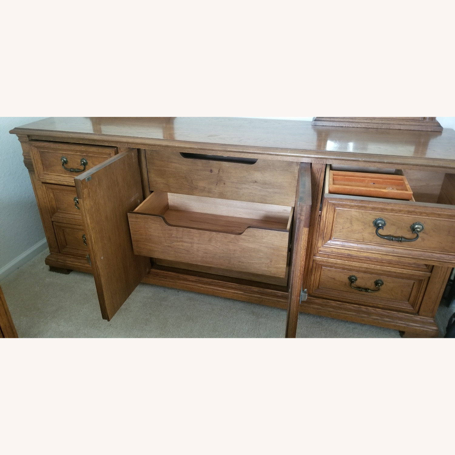 Vintage Drexel Dresser with two Large Mirrors - image-6