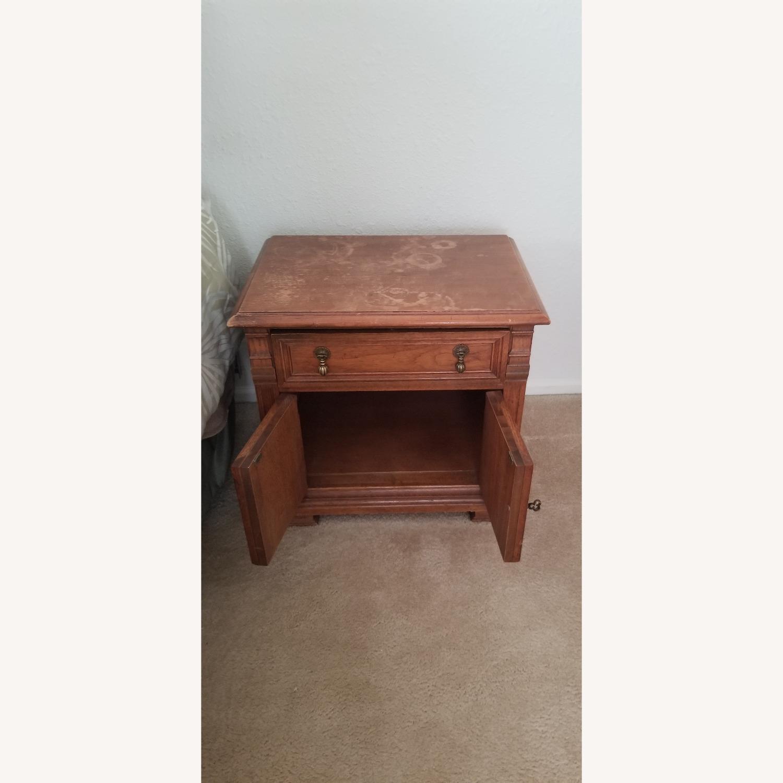 Vintage Drexel Dark Wood Nightstand - image-2