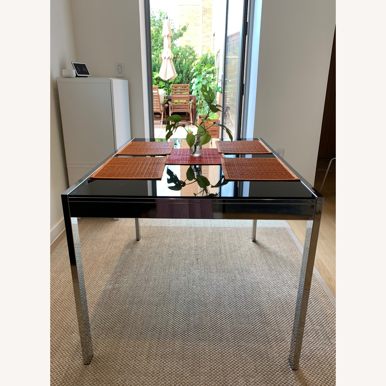 Calligaris Extendable Dining Table   Black Glass & Chrome - image-7