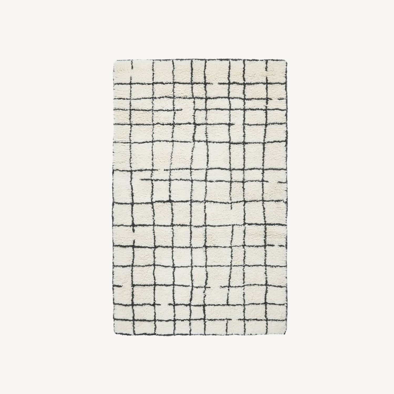 West Elm Grid Shag Rug - image-0