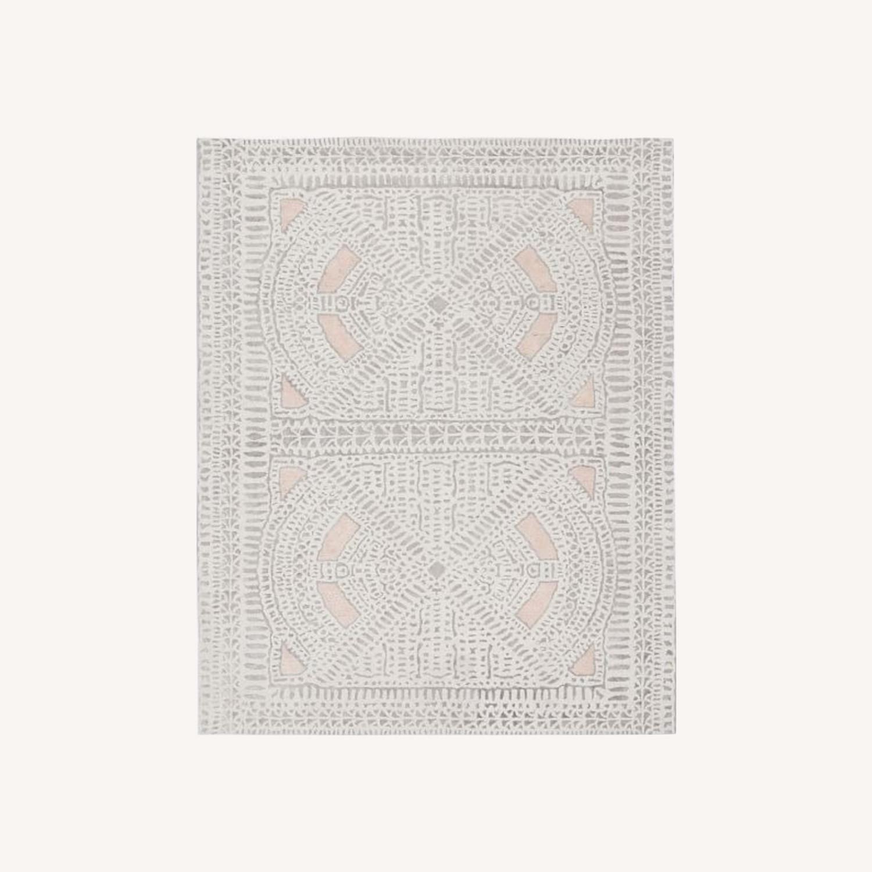 West Elm Dynasty Rug, 6x9, Rosette - image-0