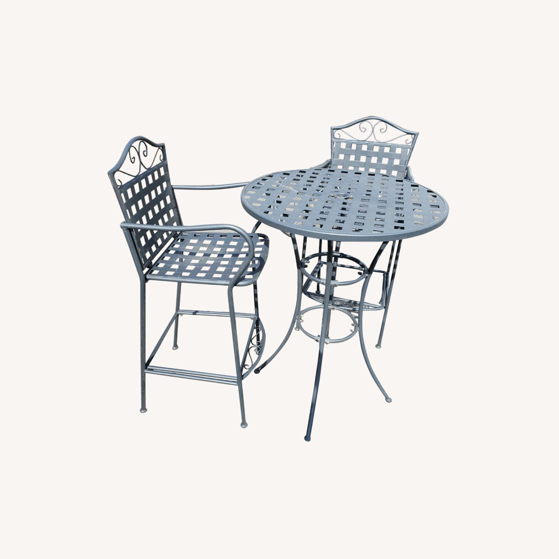 Hayneedle Outdoor Hightop Bar Table and 2 Seats - image-0