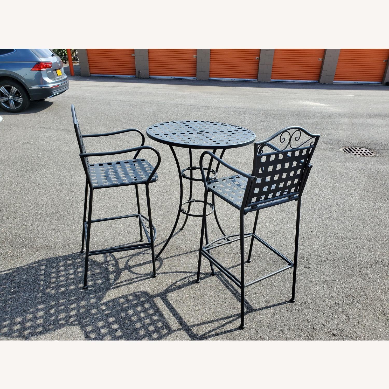 Hayneedle Outdoor Hightop Bar Table and 2 Seats - image-2