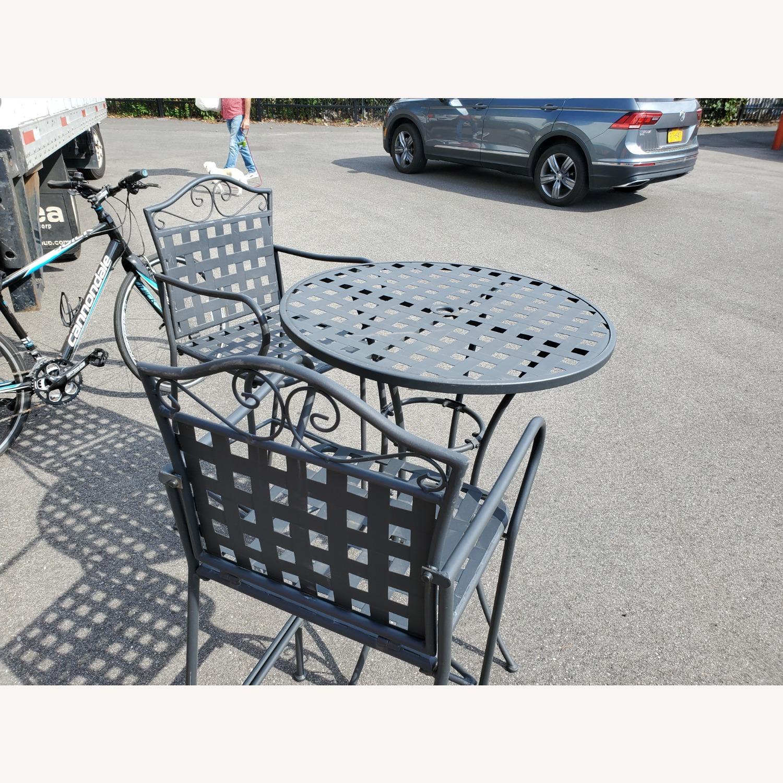 Hayneedle Outdoor Hightop Bar Table and 2 Seats - image-3