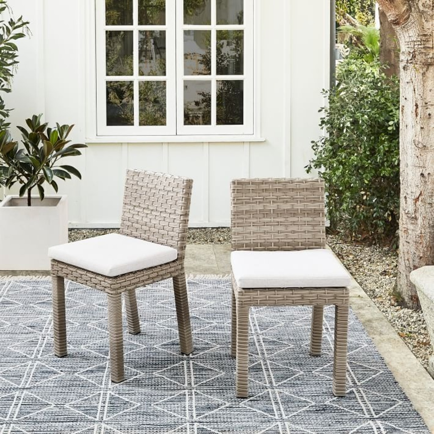 West Elm Urban Outdoor Dining Chair, Set of 2 - image-3