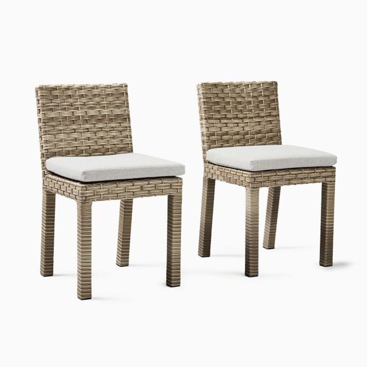 West Elm Urban Outdoor Dining Chair, Set of 2 - image-1