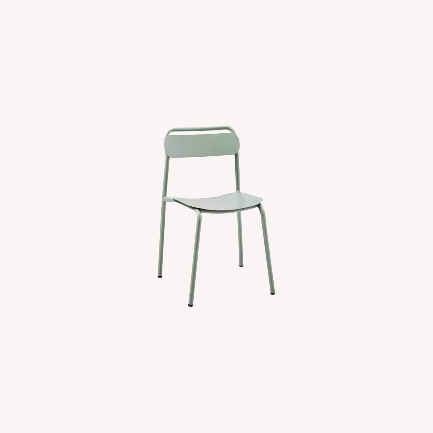 West Elm Outdoor Metal Stacking Chair (Set of 2) - image-0