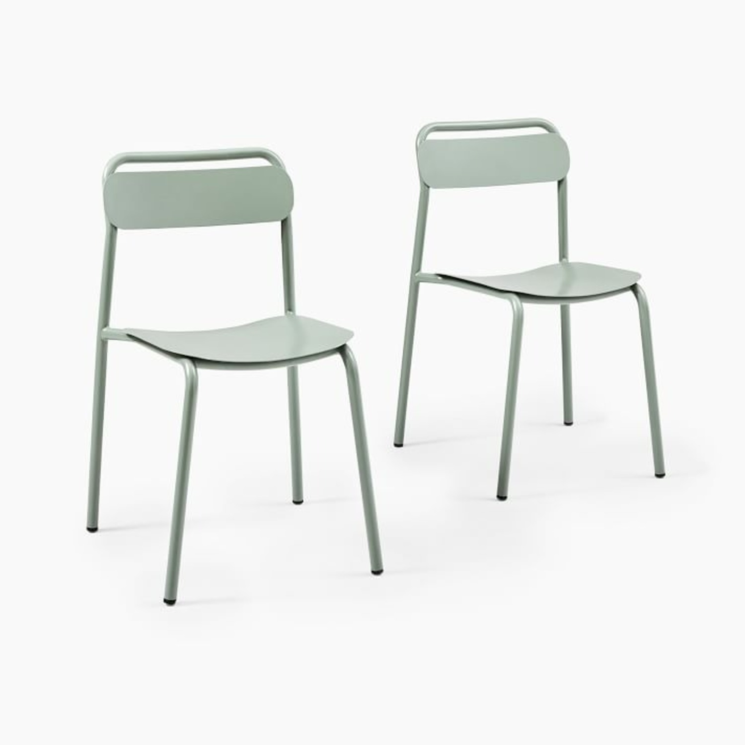 West Elm Outdoor Metal Stacking Chair (Set of 2) - image-1
