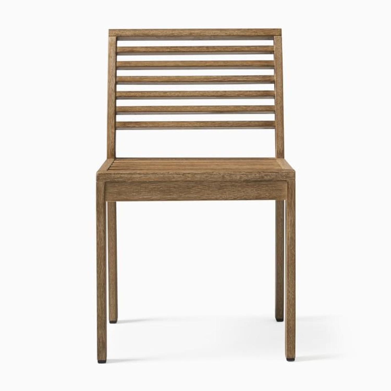West Elm Santa Fe Slatted Dining Chair, S/2 - image-2
