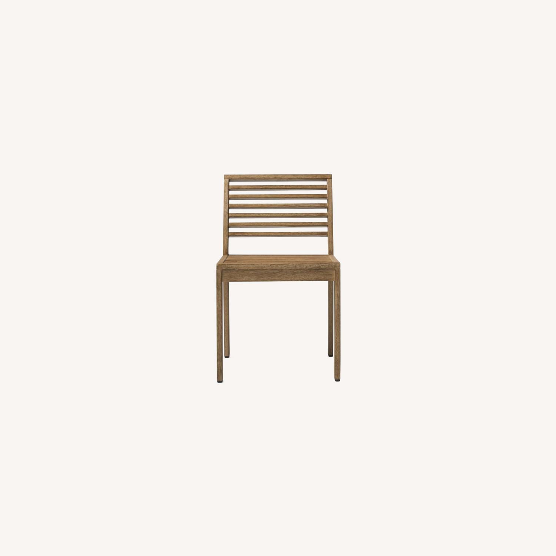 West Elm Santa Fe Slatted Dining Chair, S/2 - image-0