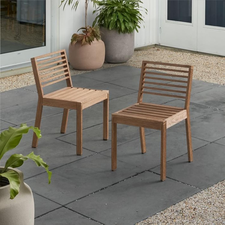 West Elm Santa Fe Slatted Dining Chair, S/2 - image-3
