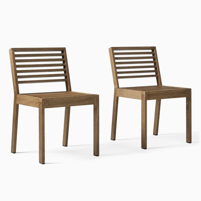 West Elm Santa Fe Slatted Dining Chair, S/2 - image-1