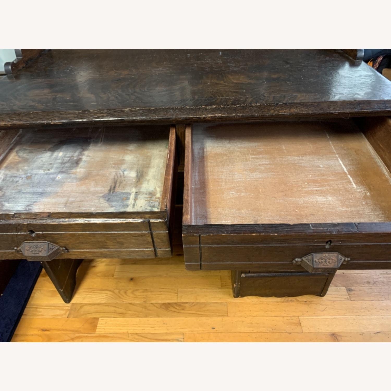 Antique Oak NYC Teachers Desk - image-6