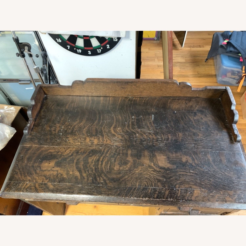 Antique Oak NYC Teachers Desk - image-5