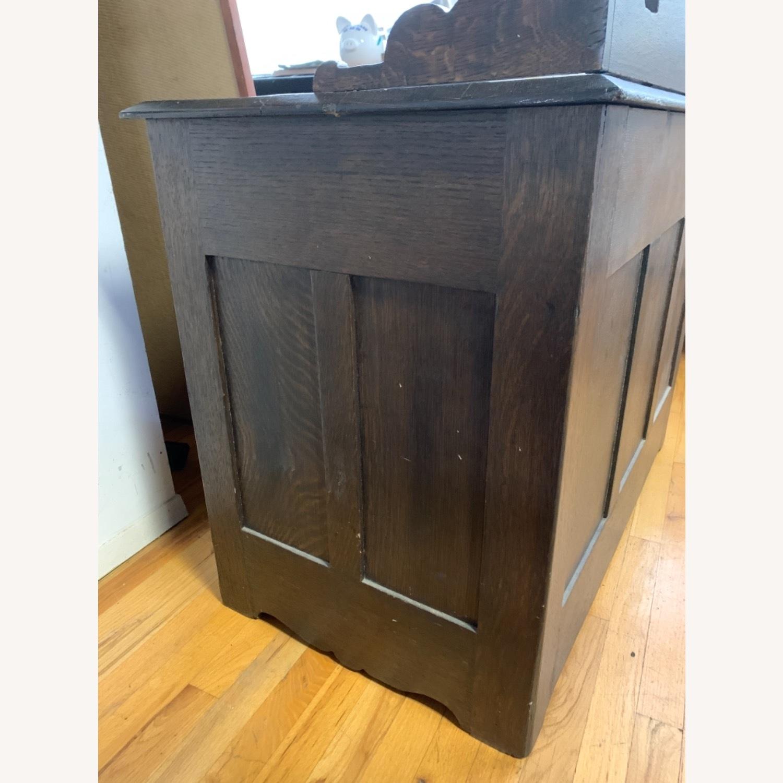 Antique Oak NYC Teachers Desk - image-4