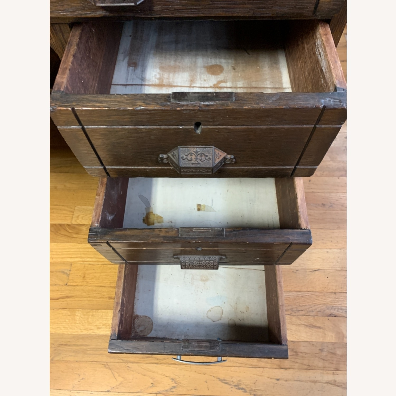 Antique Oak NYC Teachers Desk - image-7