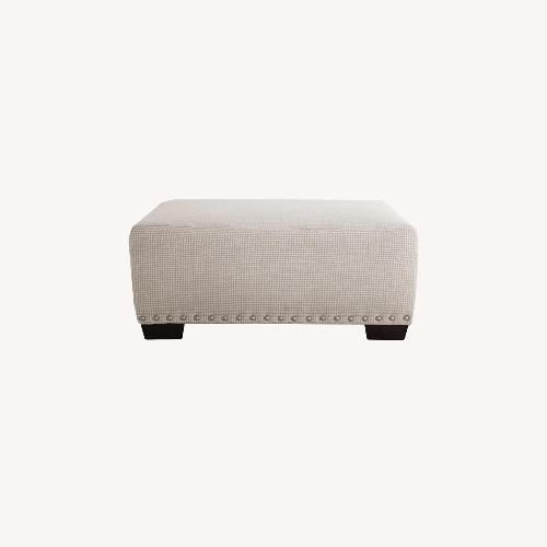 Used Bob's Discount Furniture Cottage Chic Ottoman for sale on AptDeco