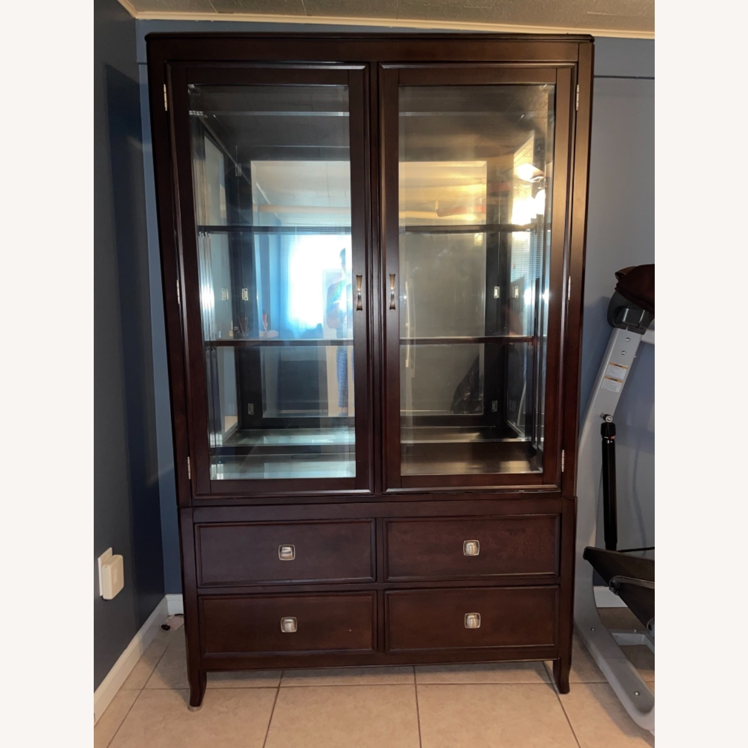 Steve Silver Wooden Curio Cabinet - image-0