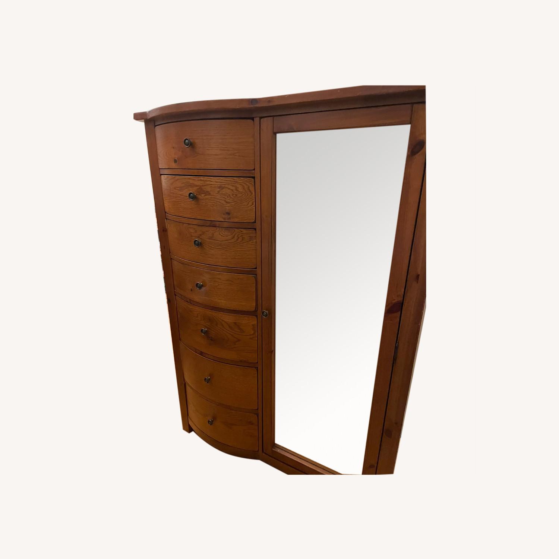 Oak Webb Wardrobe Armoire - image-0