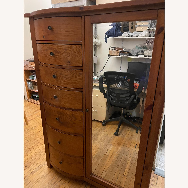 Oak Webb Wardrobe Armoire - image-1