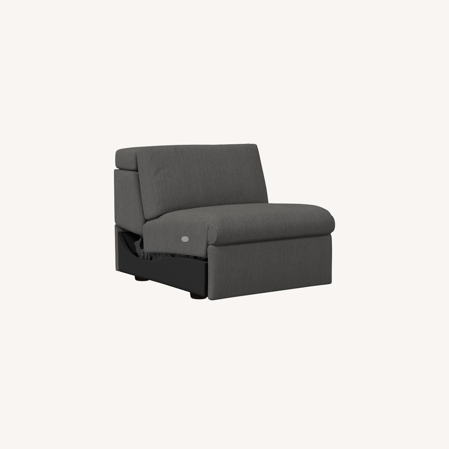 West Elm Enzo Single Armless Piece, with Motion - image-0