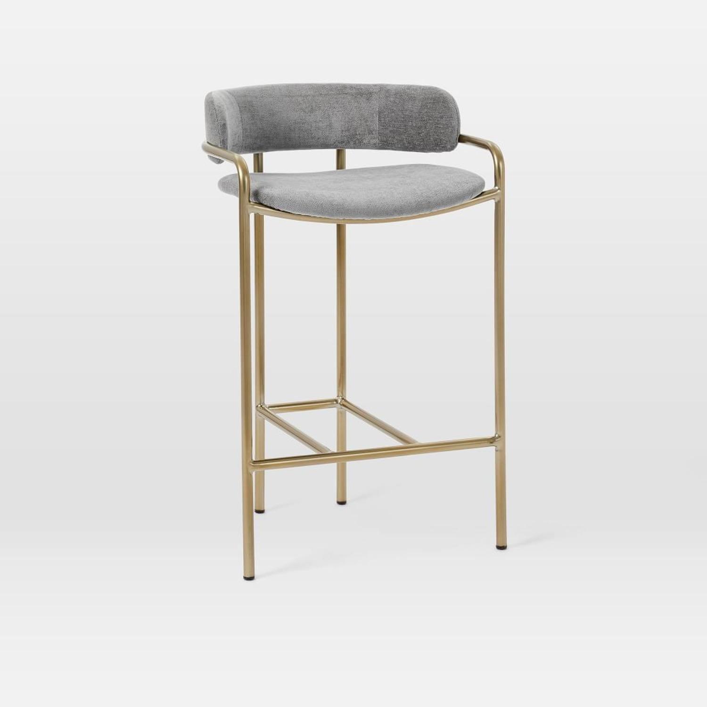 West Elm Lenox Upholstered Counter Stool - image-1