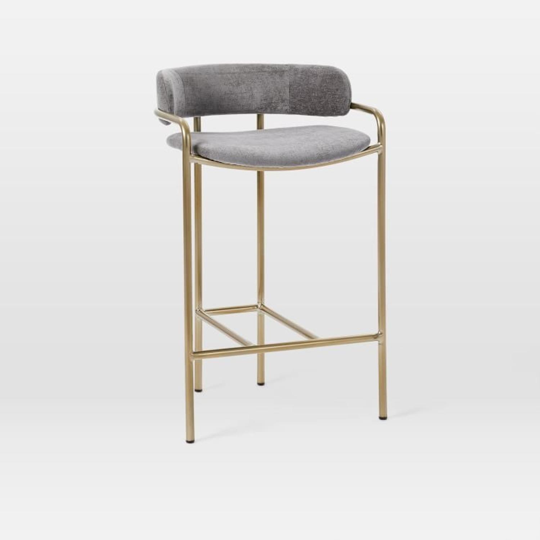 West Elm Lenox Upholstered Counter Stool - image-2
