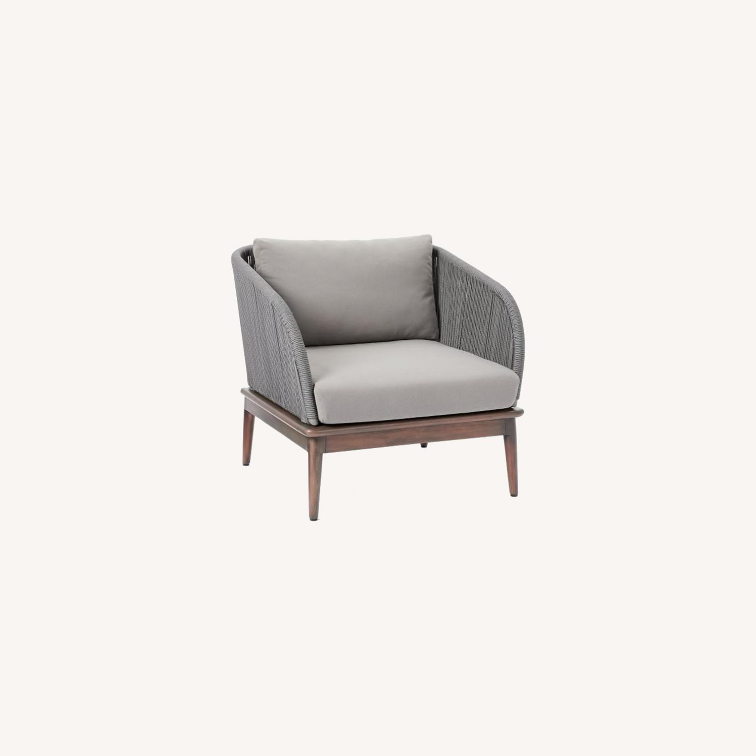 West Elm Corded Weave Outdoor Lounge Chair - image-0