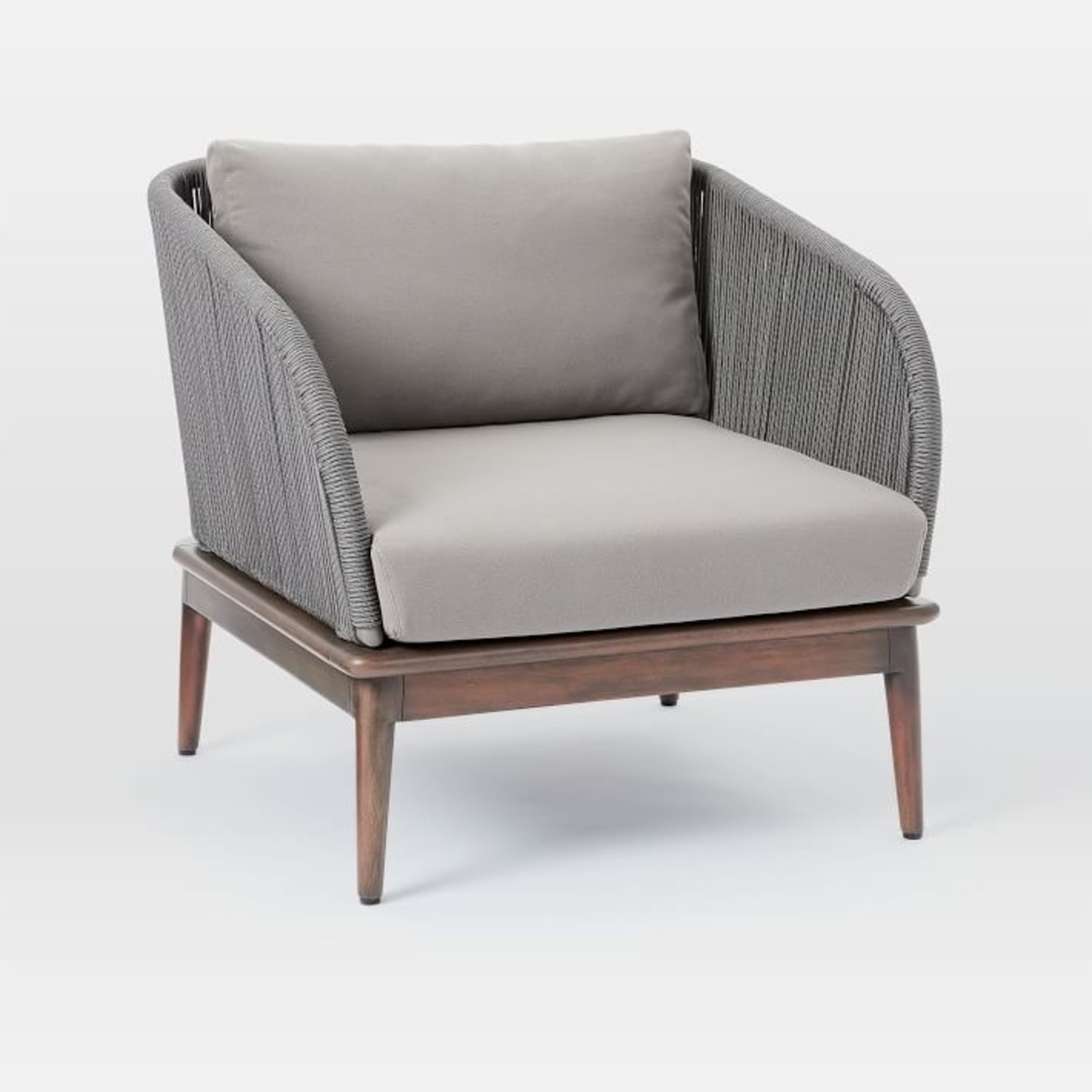 West Elm Corded Weave Outdoor Lounge Chair - image-2