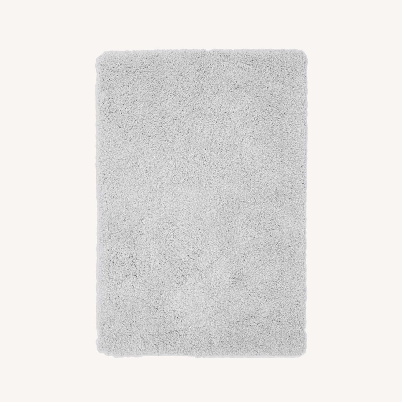 West Elm Frost Gray Plush Rug - image-0